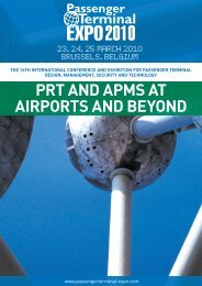 prt and apms at airports and beyond - Passenger Terminal Expo