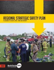 Regional Strategic Safety Plan Summary Brochure - North Florida TPO