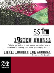 Taster course - School of Stitched Textiles