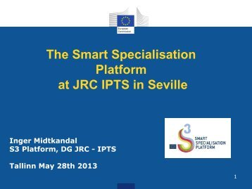 The Smart Specialisation Platform at JRC IPTS in Seville