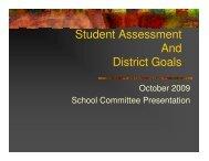Student Assessment And District Goals - Gateway Regional School ...
