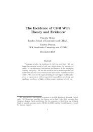 The Incidence of Civil War: Theory and Evidence