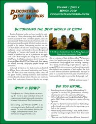 Discovering the Deaf World in China What is DDW? Did You Know...
