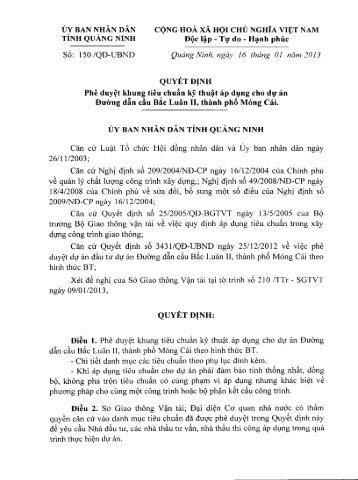 ỦY BAN NHÂN DÂN CỘNG HOÀ XÃ HỘI CHỦ NGHĨA ... - Quảng Ninh