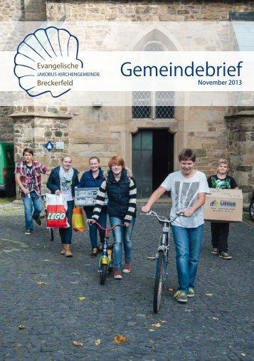 Gemeindebrief Nov. 2013 - Ev. Jakobus-Kirchengemeinde Breckerfeld