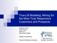 True-Lift Modeling - Predictive Analytics World