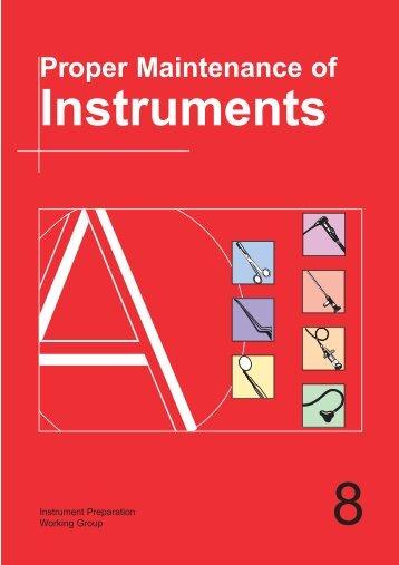 Proper Maintenance of - Instrumentarium