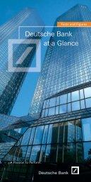 Deutsche Bank at a Glance - PROEstate