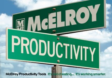 download a copy of the McElroy Productivity Brochure