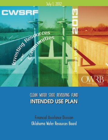 FY 2013 Intended Use Plan - Water Resources Board - State of ...