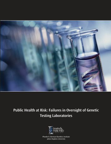 Public Health at Risk - Genetics & Public Policy Center