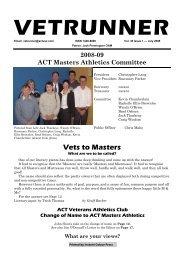 vetrunner - ACT Veterans Athletics Club