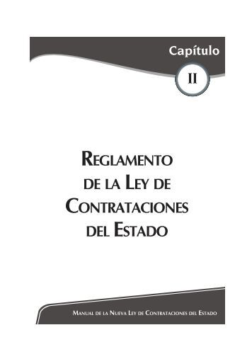 reglamento de la ley de contrataciones del estado - Revista Asesor ...
