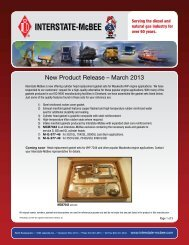 New Product Release – March 2013 - Interstate McBee
