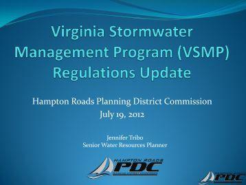 (VSMP) Regulations Update - Hampton Roads Planning District ...