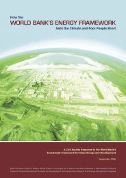 WORLD BANK'S ENERGY FRAMEWORK - Bank Information Center
