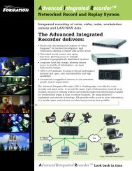 Integrated recording of voice, video, radar, workstation