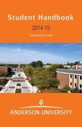 Student Handbook [PDF] - Anderson University