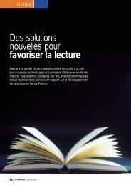 Télécharger l'article du magazine sur le rapport - CESER Ile-de ...