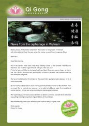 News from the orphanage in Vietnam - Qi Gong Oberkassel