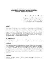 Formação de Professores e Novas Tecnologias - Portal de Ensino ...