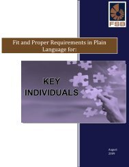 Fit and Proper Requirements in Plain Language for - Compliance ...