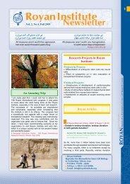 Vol. 2, No.4, Fall 2009 - Royan Institute