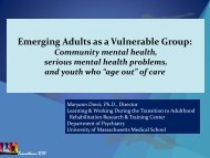Community mental health, serious mental health problems, and ...