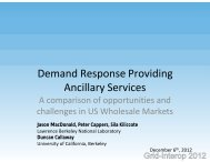Demand Response Providing Ancillary Services