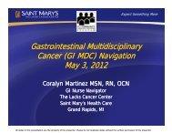 GI Cancer Navigation - Michigan Cancer Consortium