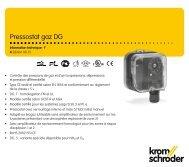 Pressostat gaz DG - Gasotec