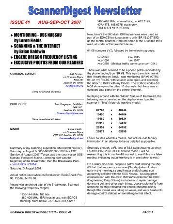 Issue 41 - Scanner Digest Newsletter
