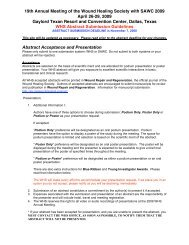 WHS 2009 Meeting Abstract Submission Instructions