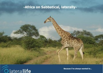 Africa on Sabbatical, laterally - Laterallife