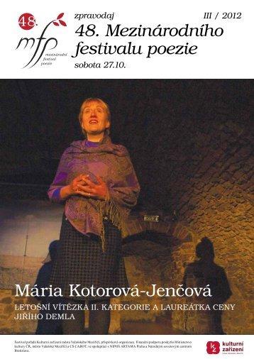 Zpravodaj III/2012 - Kulturní zařízení