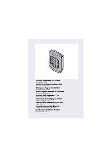 Anleitung für Montage und Betrieb Ins tallation and op ... - Antriebe 24