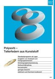 Polysorb – Tellerfedern aus Kunststoff - Igus
