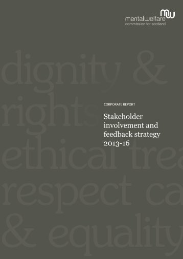 Stakeholder involvement and feedback strategy 2013-16 (.pdf, 1KB)