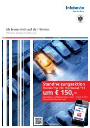 Standheizungsaktion Thermo Top inkl. ThermoCall TC3 um € 150