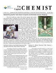 low-res pdf - Chemical Society of Washington - American Chemical ...