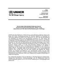 Richtlinien zum internationalen Schutz, Nr. 5 - Anwendung der ...