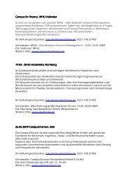 Campus fo Campus for finance, WHU Vallendar r finance ... - JobStairs