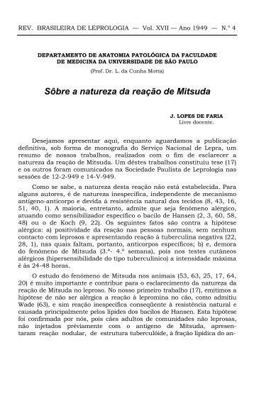 Sôbre a natureza da reação de Mitsuda