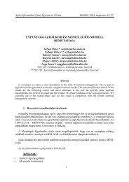 tápanyaggazdálkodási szimulációs modell bemutatása - Debreceni ...