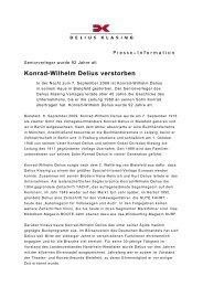Konrad-Wilhelm Delius verstorben