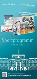 Sportprogramm HWS 2012 PDF - Universität Mannheim