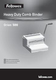 Heavy Duty Comb Binder - Fellowes
