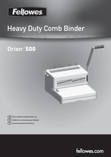 Heavy Duty Comb Binder - Fellowes