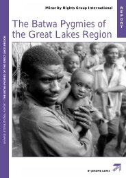 The Batwa Pygmies of the Great Lakes Region - UNHCR