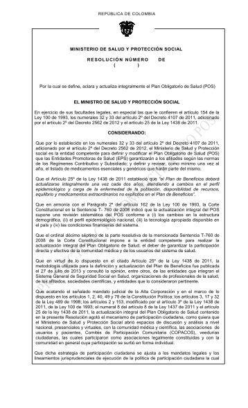 Proyecto Resolución POS Publicación